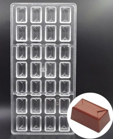Rectangle en polycarbonate Professionnel Chocolat Bon Bon Moule//Moule 42 cavités